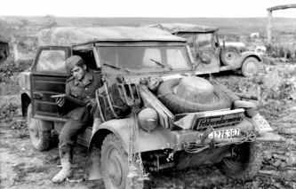 Kubelwagen Type 82 pe frontul din Rusia