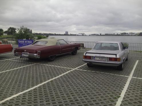 Mercedes 280SLC & Cadillac Eldorado