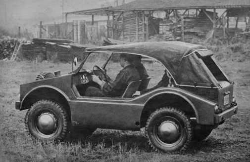 Prototip Porsche 597 Jagdwagen - 1954
