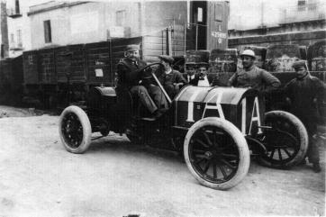 Vincenzo Lancia - Cursa Targa Florio 1906