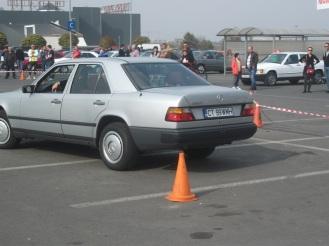 Mercedes 230E W124 la finalul primei probe