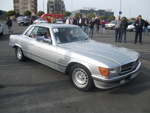 Mercedes 280SLC la startul probei a doua