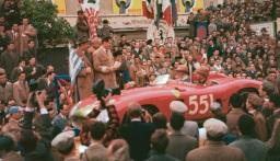 Ferrari 290MM la startul cursei 1000km de la Buenos Aires in 1957