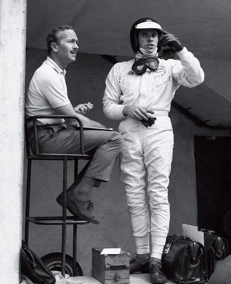 Jim Clark cu Colin Chapman in 1962