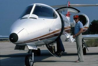 Cu unul din avioanele companiei sale Lauda Air in 1979