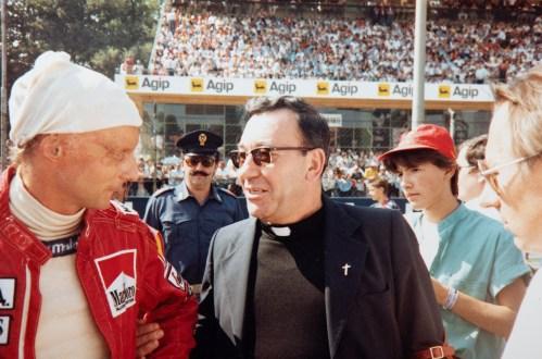 Inainte de start in Grand Prixul Italiei 1977