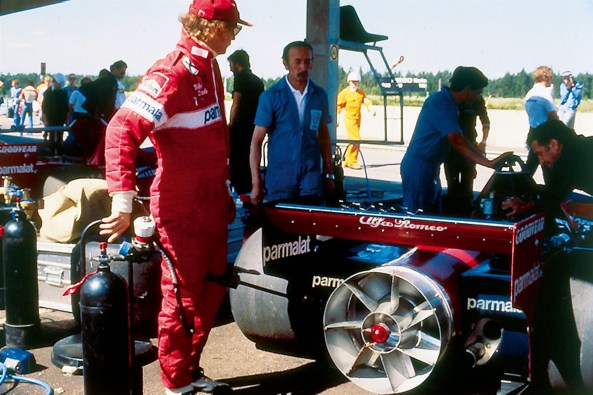 La boxe cu Brabham Alfa Romeo in 1978