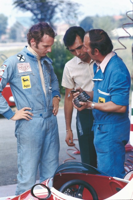 La primele teste cu Ferrari in 1974