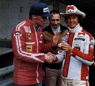 Niki Lauda & Arturo Merzario in 1976