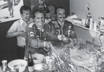 Niki Lauda & Clay Regazzoni in 1975