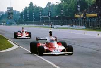 Niki Lauda cu Clay Regazzoni in Grand Prixul Italiei 1975