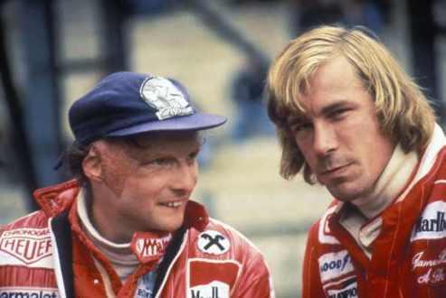 Niki Lauda & James Hunt in 1976