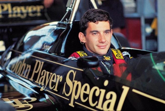 Ayrton Senna cu Lotus Ford in 1985