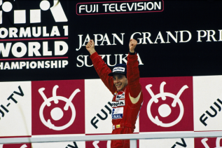 Ayrton Senna cu McLaren Honda castigator in Grand Prix-ul Japoniei 1988
