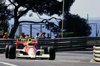 Ayrton Senna cu McLaren Honda castigator la Monaco in 1990