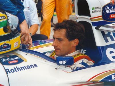 Ayrton Senna la startul Grand Prix-ului San Marino 1994