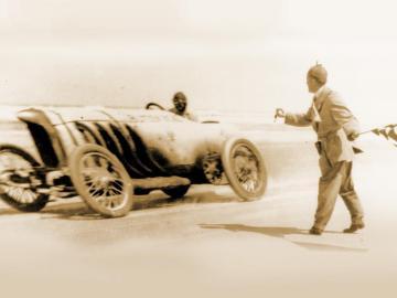Bob Burman stabilind recordul de viteză cu Biltzen Benz