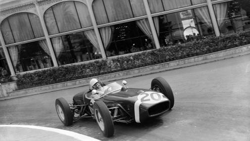 Cu Lotus 18 în Grand Prixul Monaco 1961