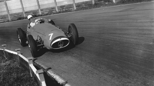 Cu Maserati 250F în Grand Prixul Belgiei 1954
