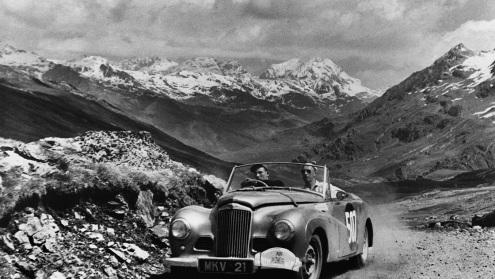 Cu Sunbeam-Talbot în cursa Alpine Rally 1953