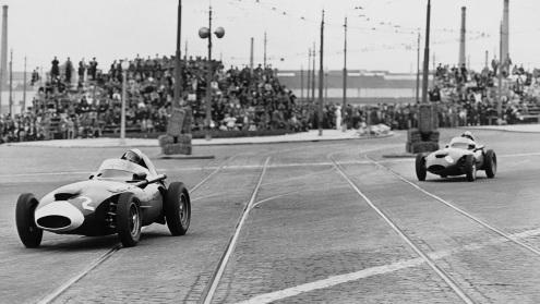Cu Vanwall în Grand Prixul Portugaliei 1958