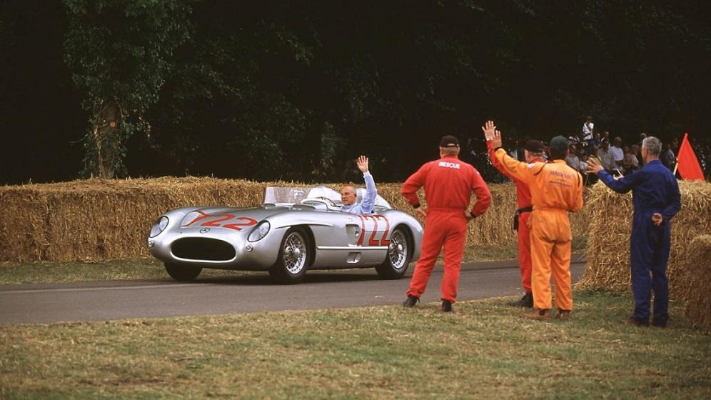 La festivalul Goodwood cu Mercedes 300SLR la aniversarea de 80 ani