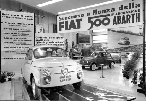 Fiat-ul 500 Abarth cu care au fost stabilite unele recorduri