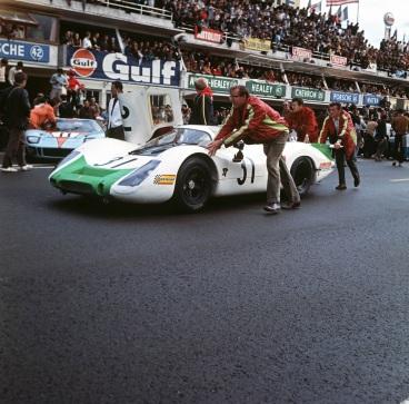 Hans Mezger & Porsche 908 la Le Mans 1968