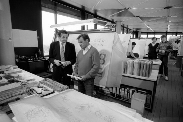 Hans Mezger la departamentul tehnic Porsche 1982