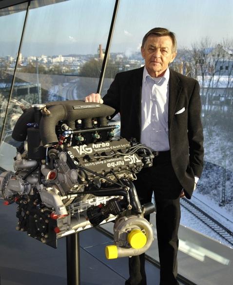 Hans Mezger & motor TAG Turbo 2004