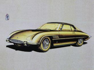 Design studiu Ferrari 400 Superfast II