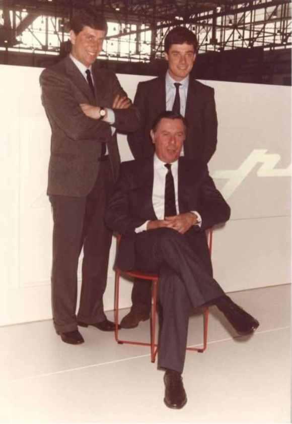 Sergio & Andrea & Paolo Pininfarina 1980